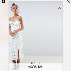 Asos design tall star print v front midi sundress